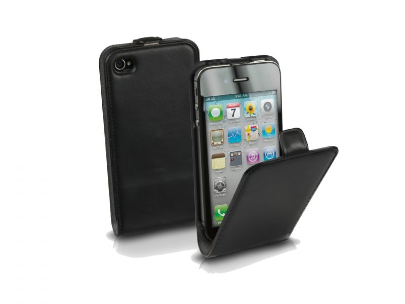 iphone 5 eco leather flip case iservice cy. Black Bedroom Furniture Sets. Home Design Ideas
